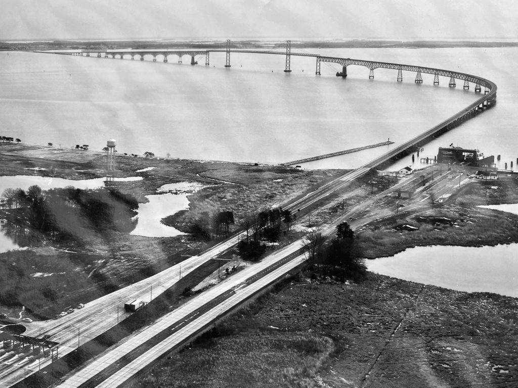 Original span of the Chespeake Bay Bridge